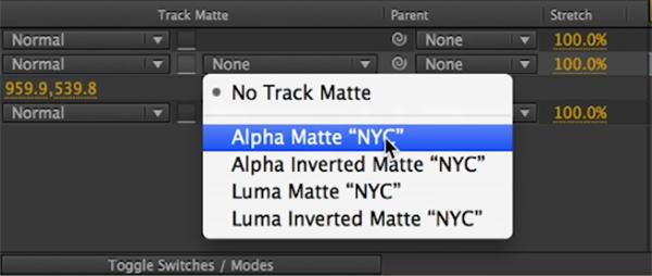 track matte effect